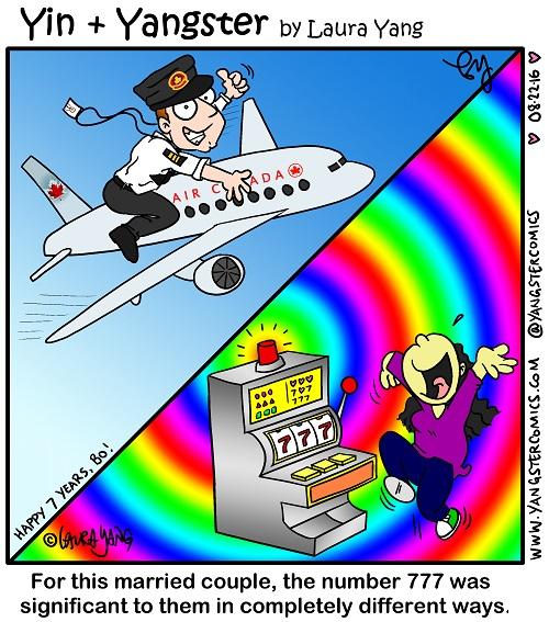 happy anniversary 7 years 777 boeing airplane pilot lucky jackpot