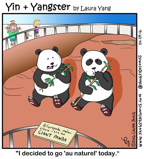 panda not wearing eyeshadow
