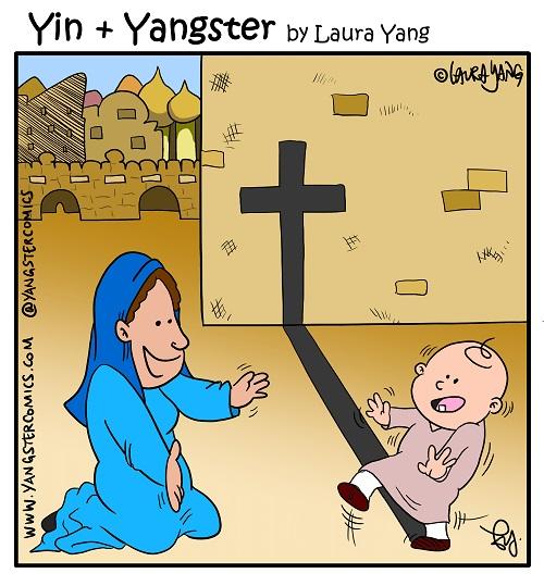 baby jesus cross virgin mary shadow bethlehem