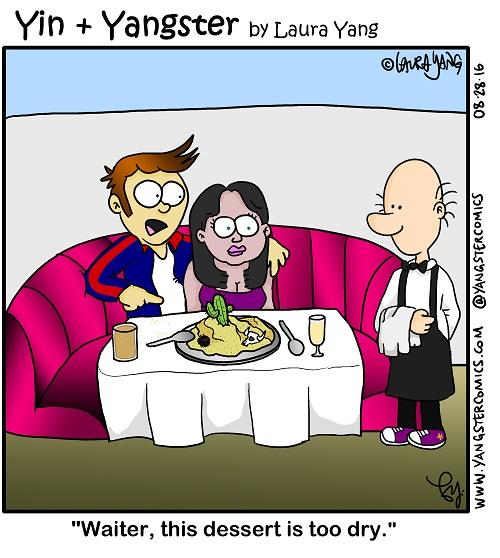 dry dessert dry desert sand interracial mixed couple man woman waiter restaurant