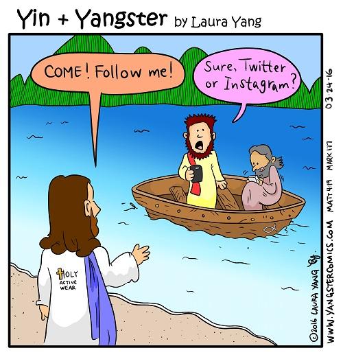 jesus and social media follow me