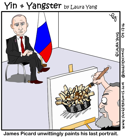vladimir putin poutine fries chips gravy cheese painter portrait russia