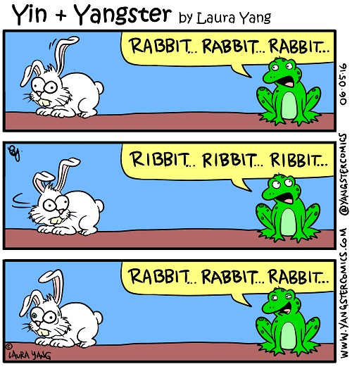 ribbit ribbit rabbit rabbit frog tricks bunny plays prank