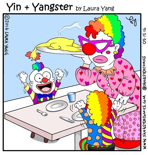 rubber chicken clown kids mom children bad cooking funny