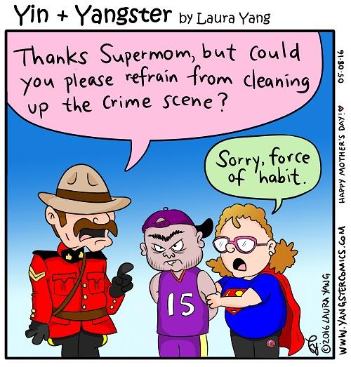 supermom superhero super hero rcmp cartoon canadian eh air canada toronto raptors vince carter mother's day