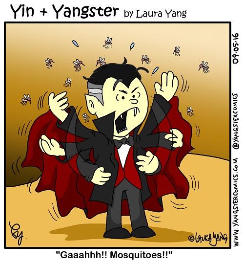 vampire mosquito cartoon happy halloween dracula